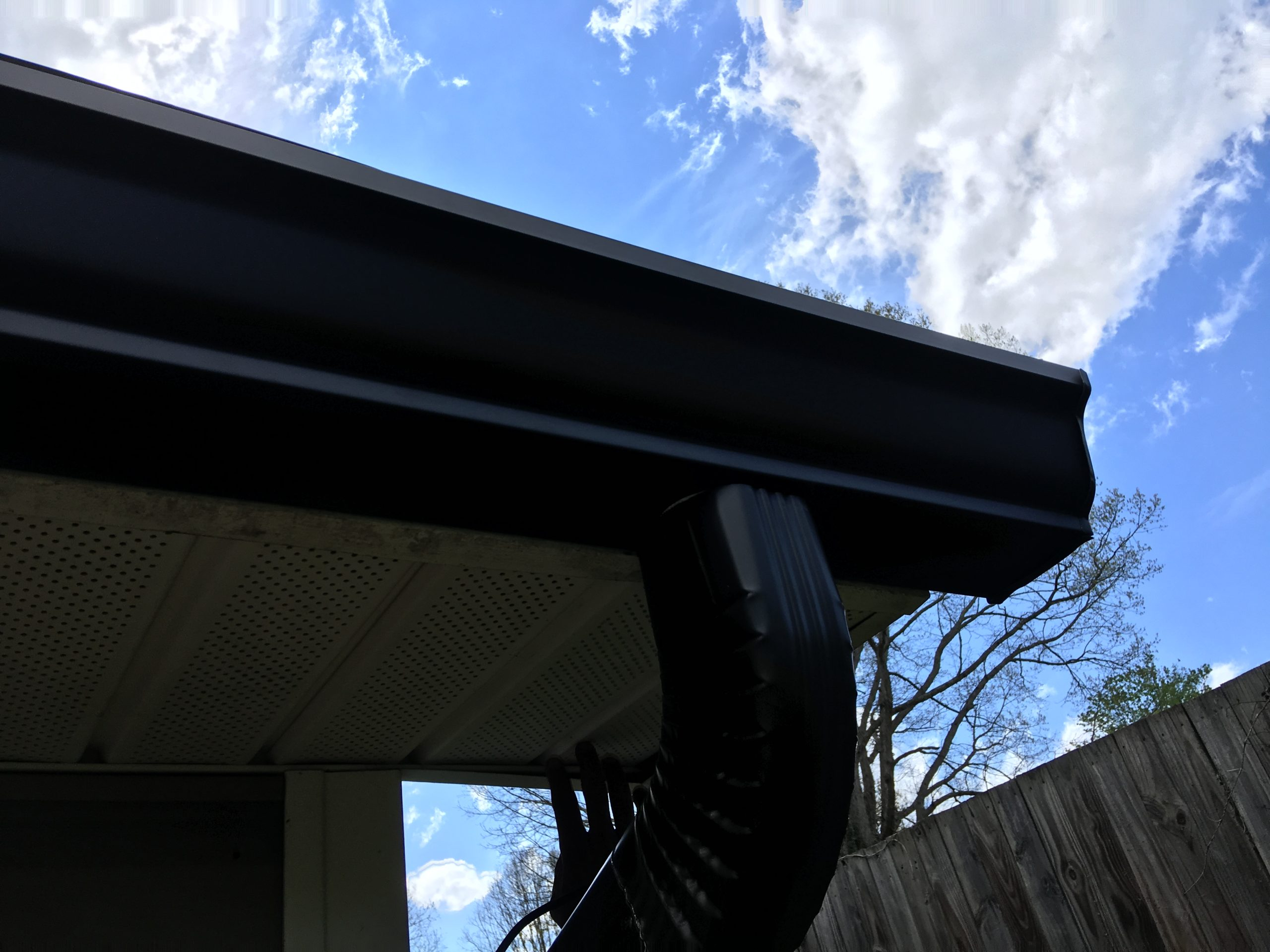 Bronze and stainless gutters