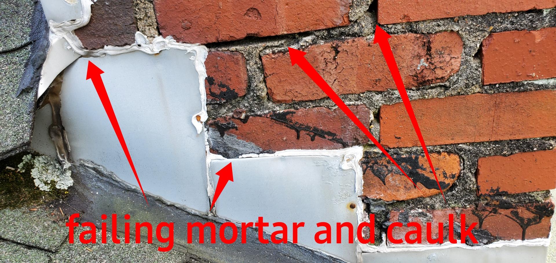Chimney mortar failing