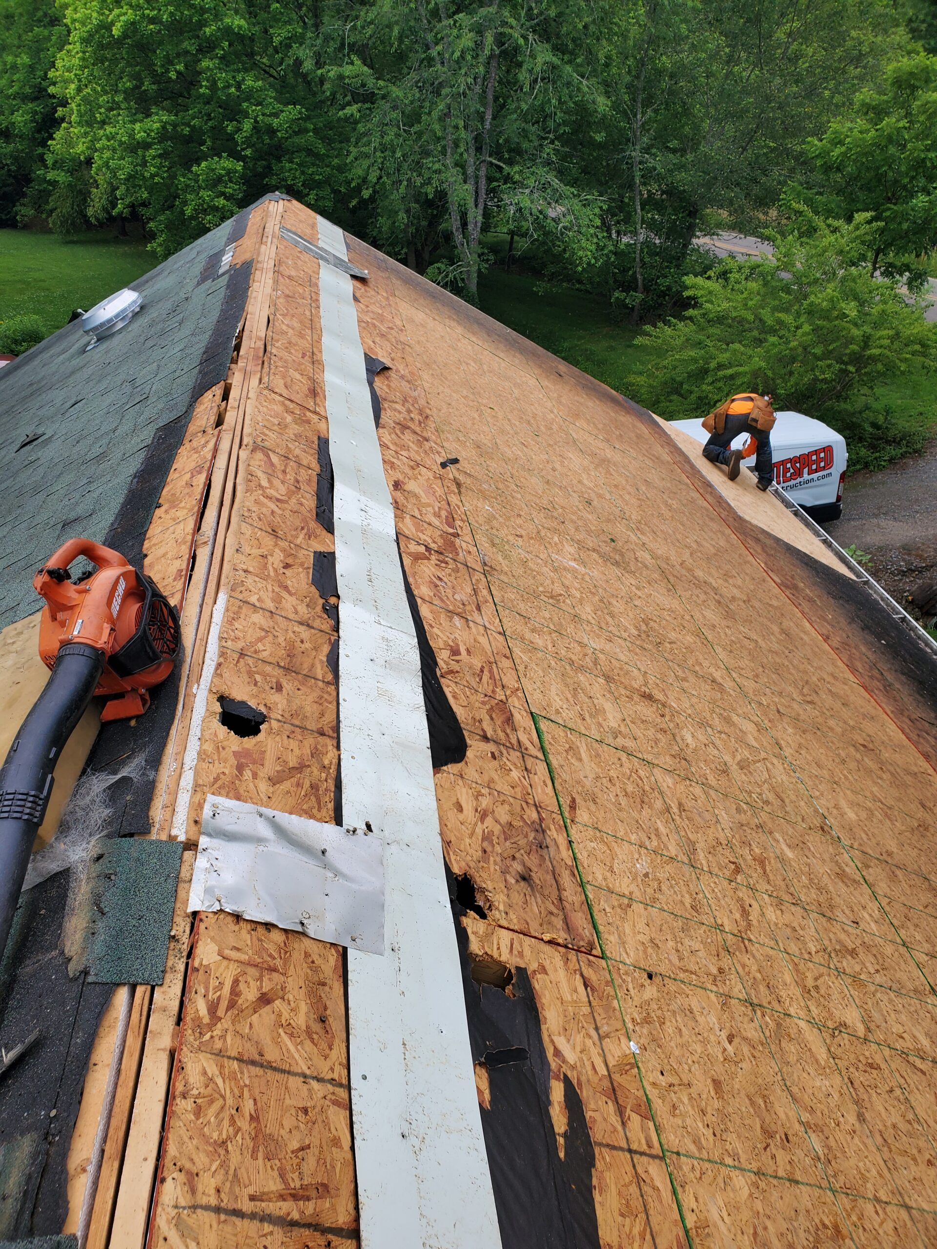 holes and huge gaps in roof decking