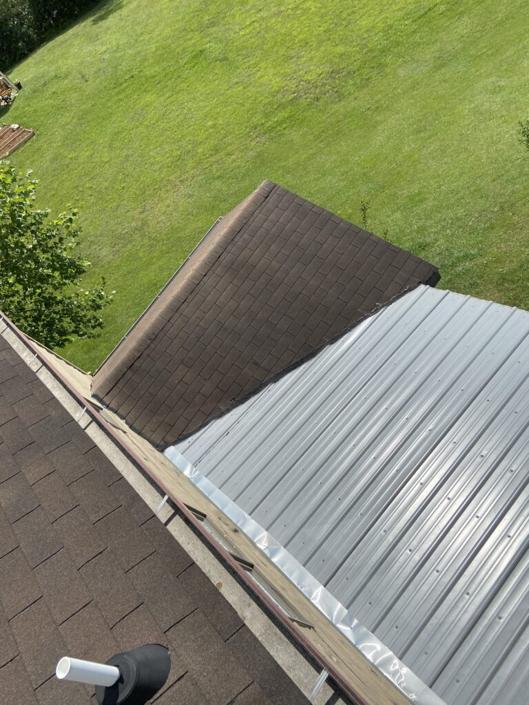 Metal Roof Addition in Rear of Home